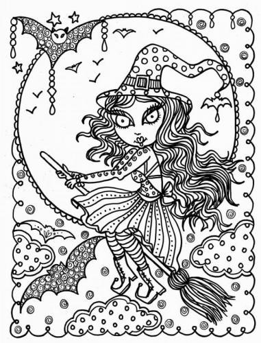 strega bella di Halloween