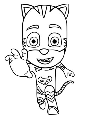 super pigiamini da colorare gattoboy
