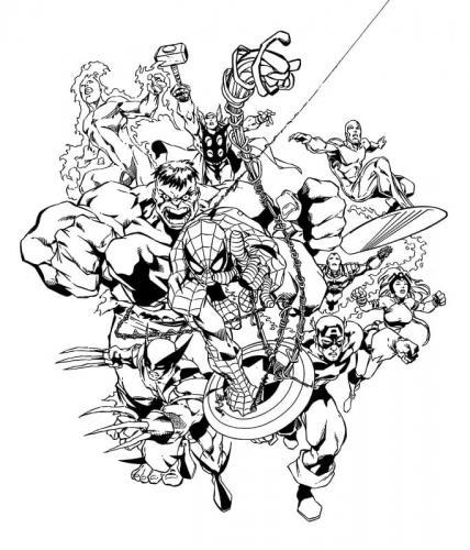 supereroi Avengers da colorare