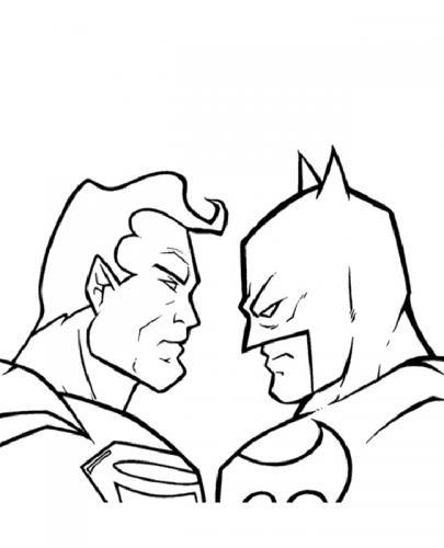 supereroi disegni da colorare Superman e Batman