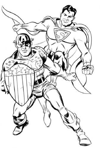 supereroi Marvel da colorare e stampare