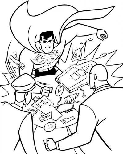 Superman colorare
