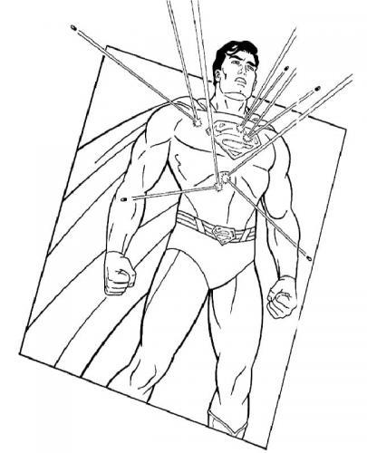 Superman da colorare on line