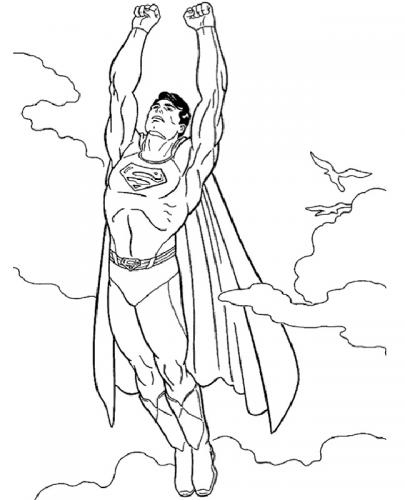 Superman da colorare per bambini