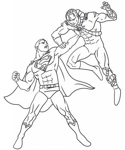 Superman da colorare sul computer