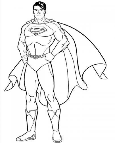 Superman da stampare e colorare