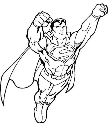 Superman disegni da colorare gratis