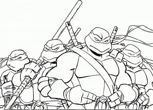 tartaruga ninja da colorare