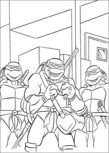 tartarughe ninja da colorare e stampare