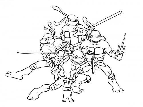 tartarughe ninja da stampare