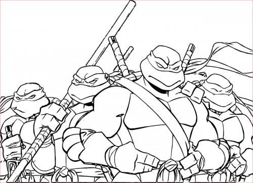 tartarughe ninja immagini da colorare