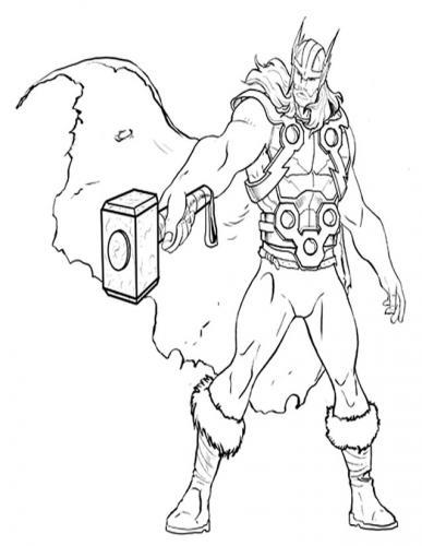The Avengers da colorare Thor