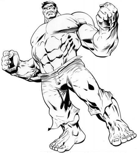 The Avengers disegni da colorare Hulk