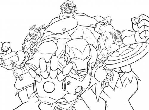 The Avengers disegni da colorare
