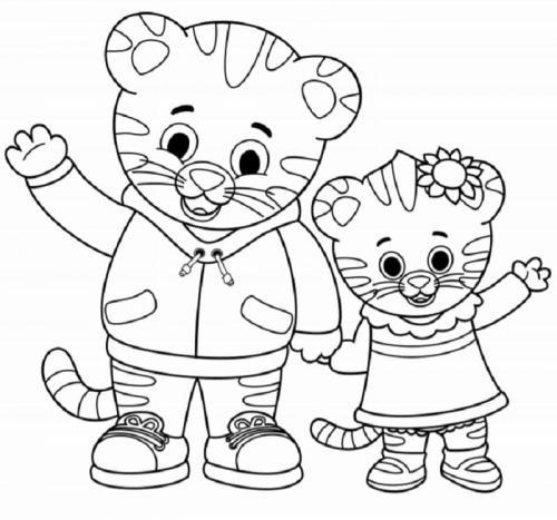 tigre disegni da stampare e colorare Daniel Tiger