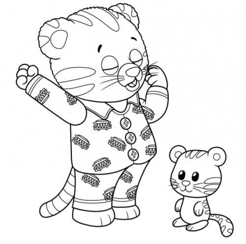 tigre disegno da colorare Daniel Tiger