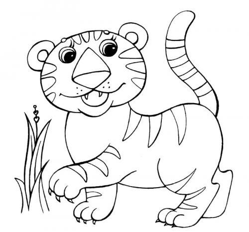 tigre immagini da colorare