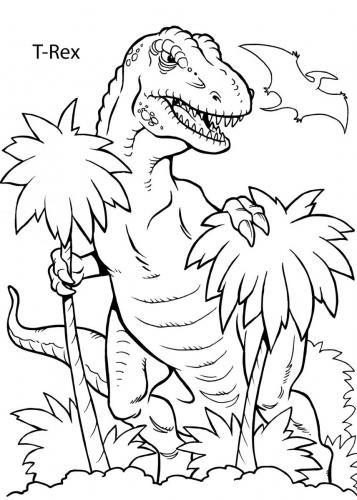 tirannosauro rex da colorare