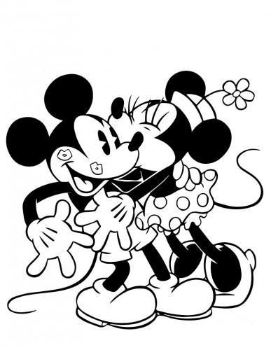 topolino e minnie che si baciano