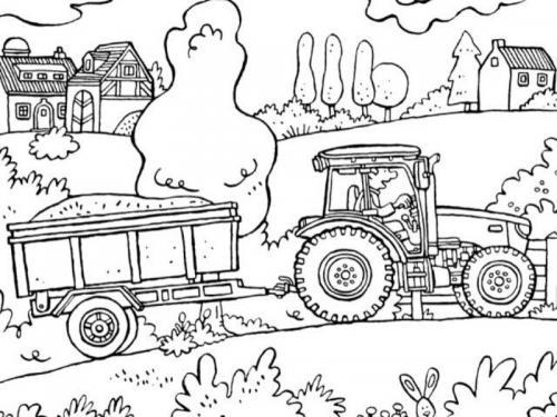 trattore da disegnare