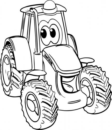 trattori da colorare
