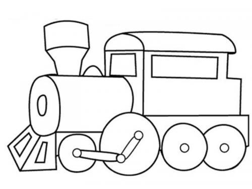 trenino disegnare