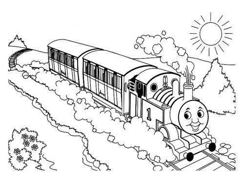 treno disegnare
