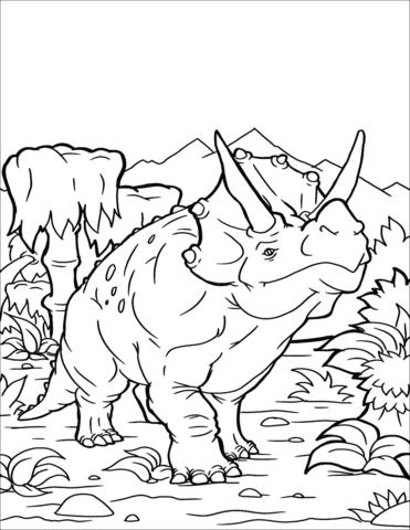 triceratopo da colorare