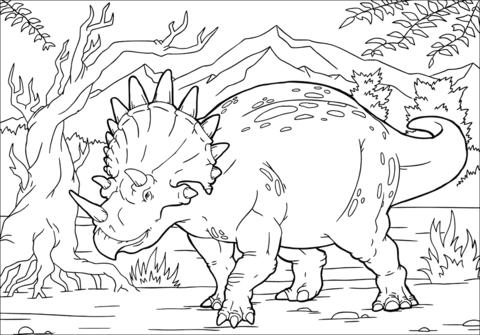 triceratopo disegno da colorare
