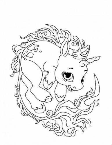 unicorni da colorare difficili