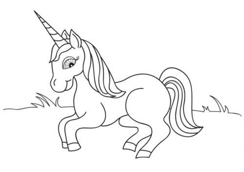 unicorni da colorare gratis