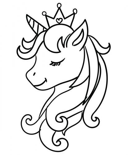 Unicorno Da Colorare.Immagini Di Unicorni 72 Disegni Da Stampare E Colorare A Tutto Donna