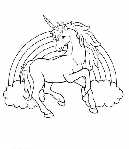 unicorni da disegnare e colorare