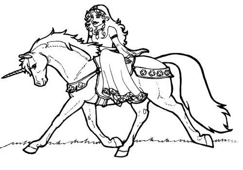 unicorni e principesse da colorare