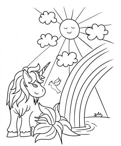 unicorni immagini da colorare