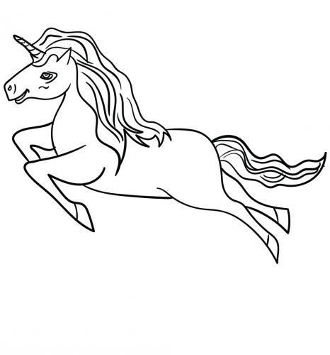 unicorni volanti da colorare