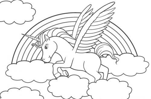unicorno alato da colorare