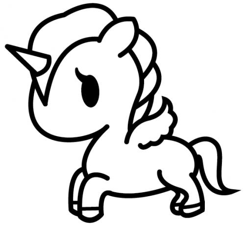 unicorno cartone
