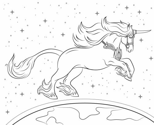 unicorno che vola
