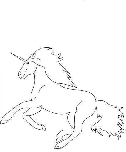 unicorno da stampare
