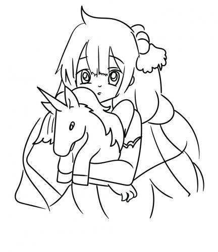 unicorno e manga
