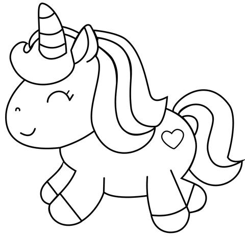 unicorno con cuore