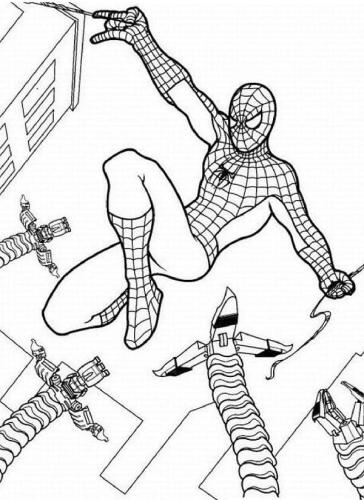 uomo ragno da colorare