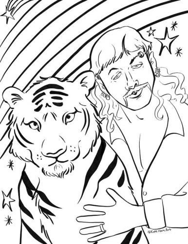 uomo tigre disegno Tiger King