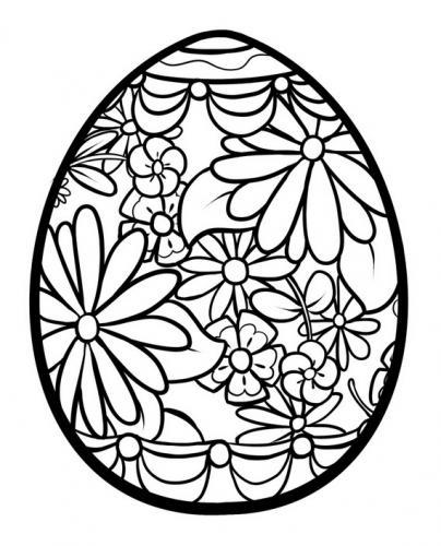 uova di pasqua da colorare e stampare