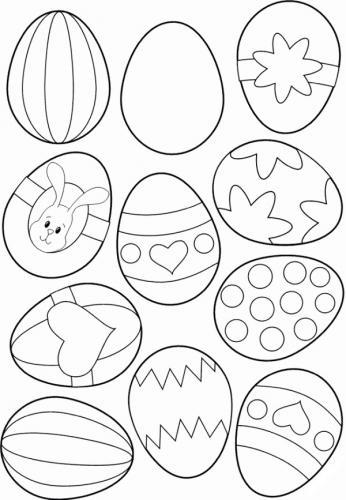 uova di pasqua immagini da colorare