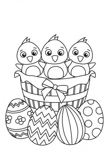 uova e pulcini da colorare