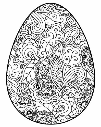 uova stilizzate da colorare