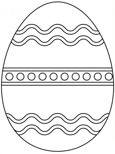 uovo da colorare