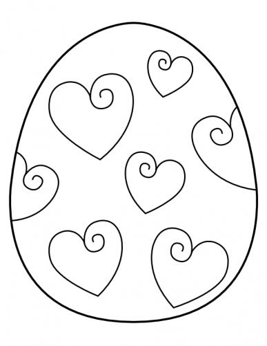 uovo di pasqua disegni da colorare